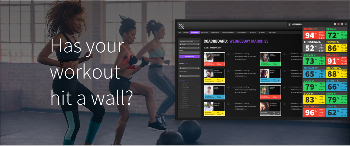 Has your workout hit a wall?